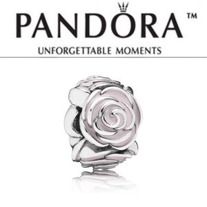 791291EN40 Retired Pandora Pink Rose Garden Bead